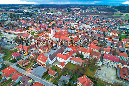 town of krizevci aerial panoramic view