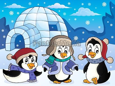 iglu mit pinguinen thema 4