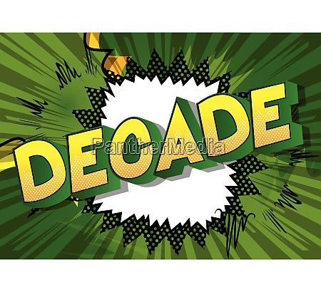 decade vector illustrated comic book