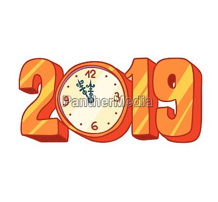 2019 neujahr uhr