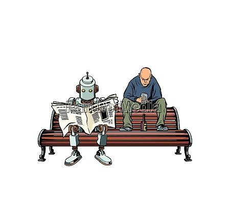 der roboter liest die morgenzeitung ein