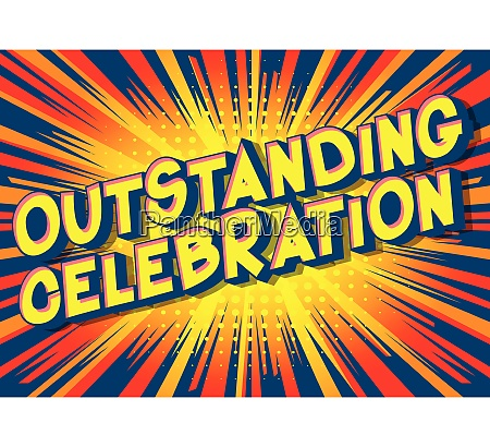 outstanding celebration vector illustrated comic
