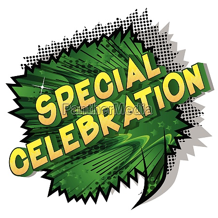 special celebration vector illustrated comic