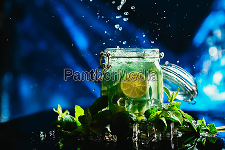 bank mojito with lime and mint