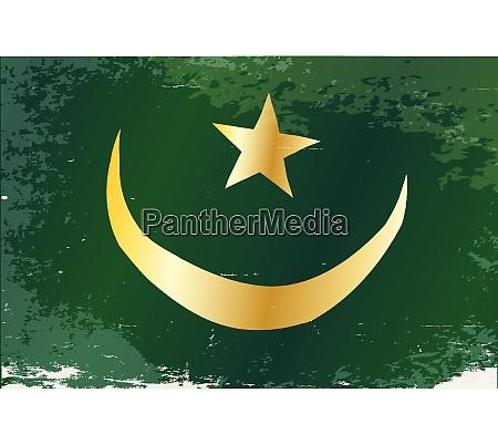 mauretanien flagge grunge