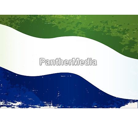 sierra leone flagge grunge