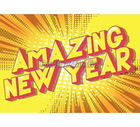 amazing new year comic book