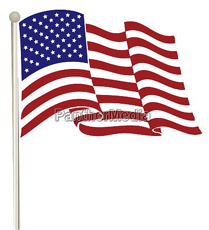 wind american usa flag illustration