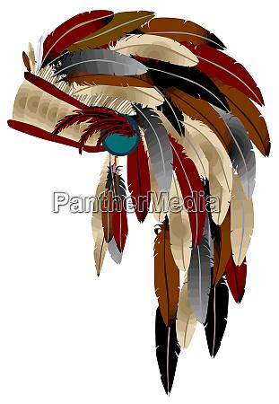 war bonnet american warrior indian native