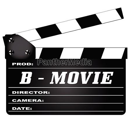 b movie clapperboard