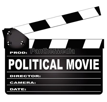 politischer film clapperboard