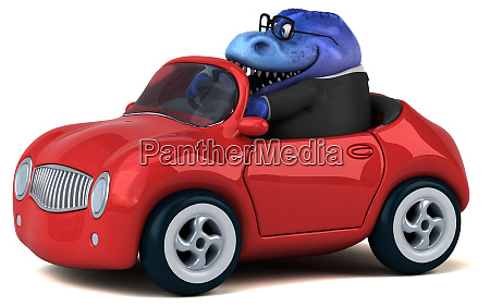 fun, frog, -, 3d, illustration - 26137233