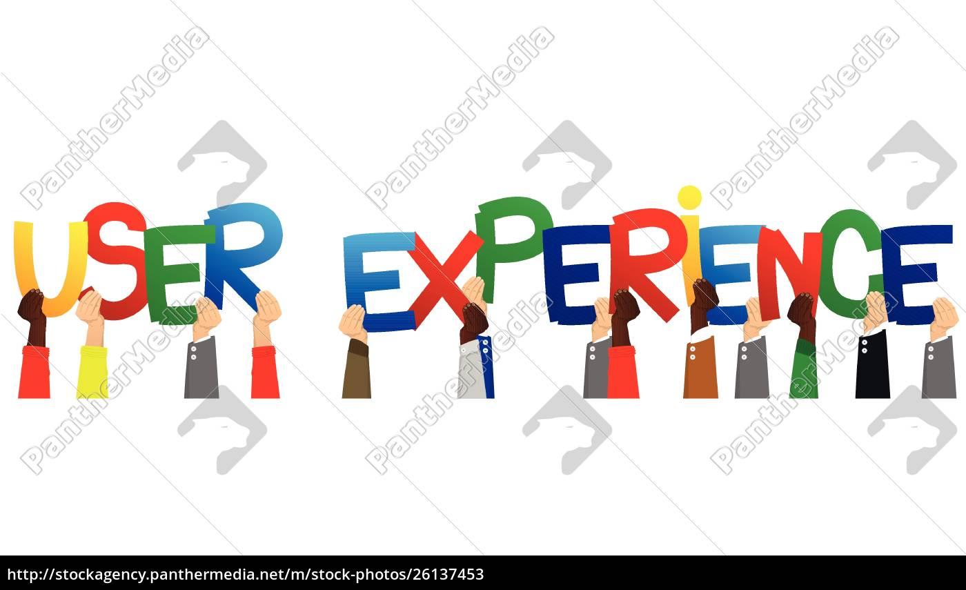 hände, mit, den, worten, user, experience. - 26137453