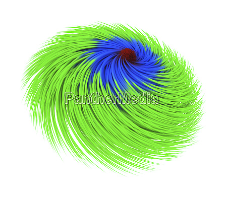 abstract multi color twirl flower isolated