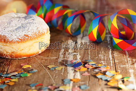 donut with colorful carnival decoration