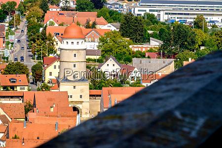 view to the roofs of noerdlingen