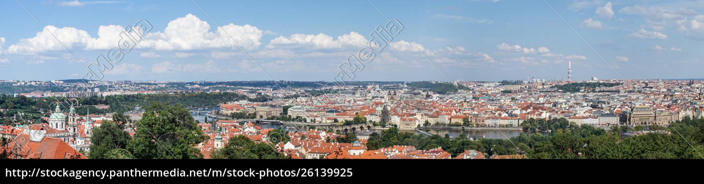 panorama, von, prag, mit, der, moldau - 26139925