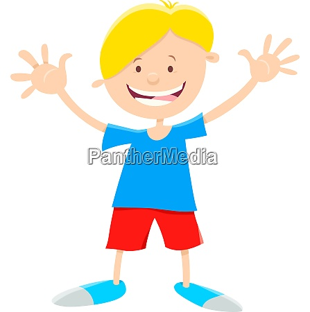 elementary age boy cartoon illustration