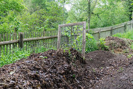 ripe compost and sieve
