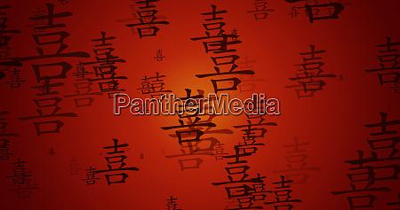 glueck chinesische kalligraphie hintergrund