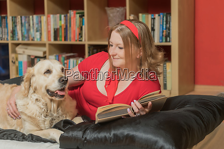cool young woman is relaxing with