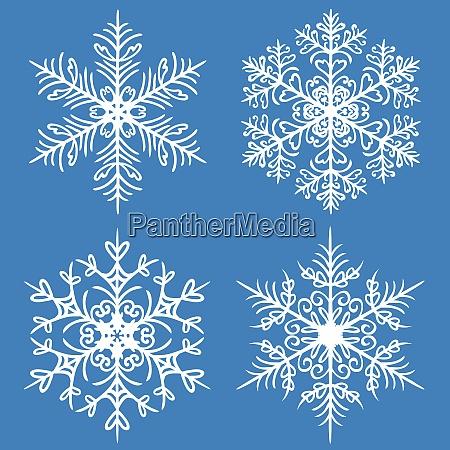 snowflake winter set