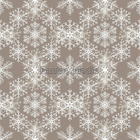 seamless pattern with snowflakes abstract background