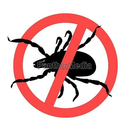 mite parasites zick silhouette symbol parasiten