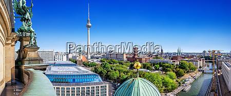 panoramablick auf die berlin innenstadt