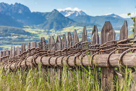 traditional pasture fence