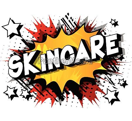 skincare comic book style phrase
