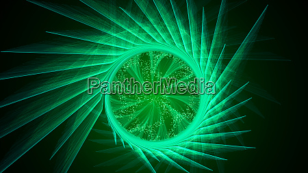 abstract green background with twisted lines