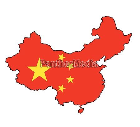 chines karte flagge