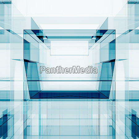 blue abstract design 3d rendering