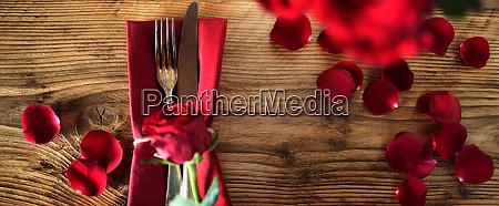 valentines table decoration