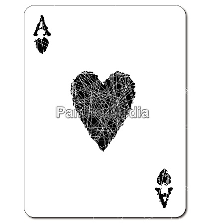 black ace of hearts