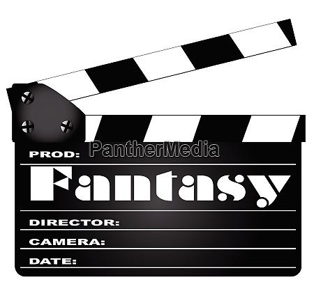 fantasy movie clapperboard