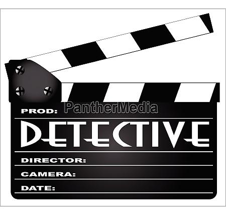 detektives klapperboard