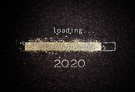 2020 new year background with loading