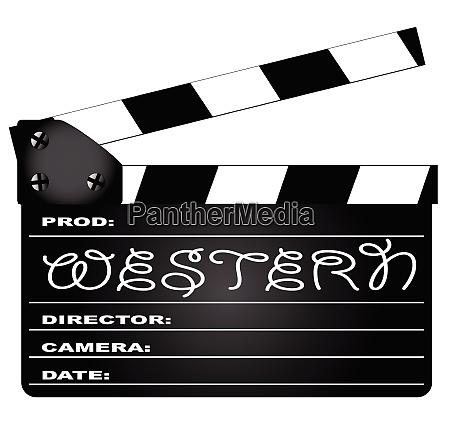 western, movie, clapperboard - 26155323