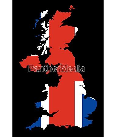 britische flagge und silhouette