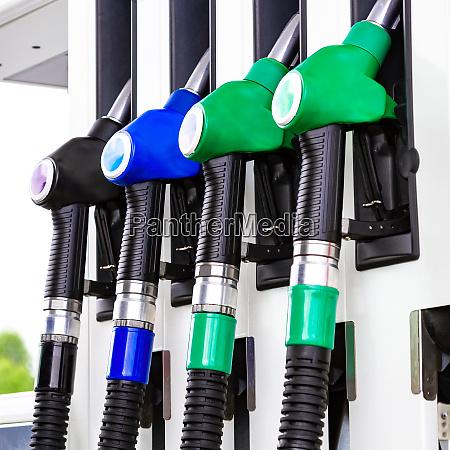 nahaufnahme der gaspumpstation