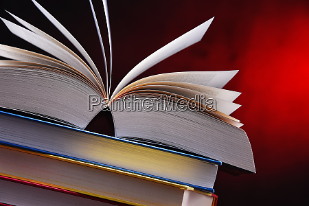 composition with open book on the