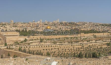 jerusalem aus dem garten auf gethsemane