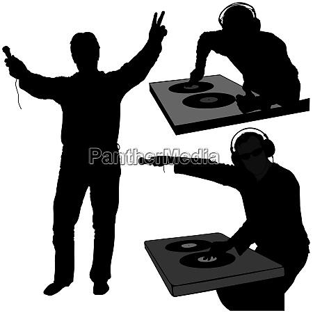 dj silhouettes