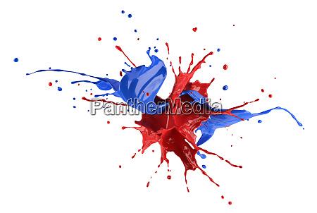 rot und blau spritzen explosion spritzten