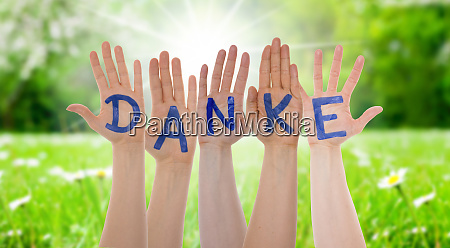 many hands building danke means thank