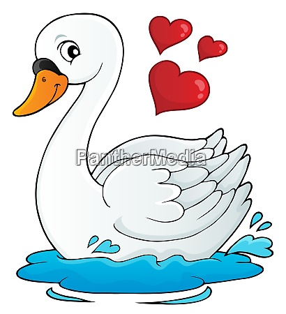 valentine swan theme image 1