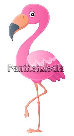 stylized flamingo theme image 1