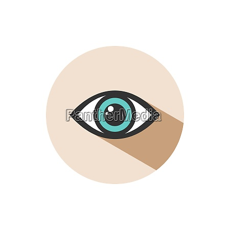 human eye icon with shade on
